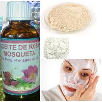 Aceite Rosa Mosqueta 30ml Y 500gr De Arcilla Blanca (pack)
