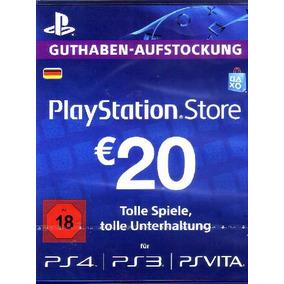 Psn Card 20 Eur Alemanha Cartão Playstation Network Imediato