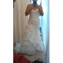 Hermoso Vestido De Novia Eduardo Nieves Talla6 Y Accesorios