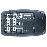 Consola Mezcladora, Amplificador & Bocinas Bluetooth Usb Sd