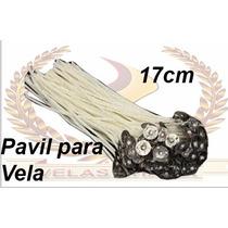 200 Pavil Para Velas 7 Dias Parafinado 17cm 100% Parafina.