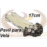 50 Pavios Para Velas 7 Dias Parafinado 17cm Parafina Pura .
