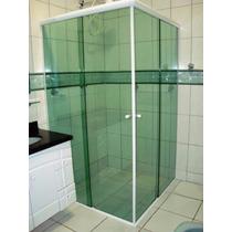 À Retirar - Box Vidro Verde/fumê/bronze- Canto Até 1,00x1,00