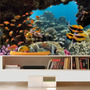 Decoração Peixe Aquário Adesivo Painel Fundo Do Mar Mod01