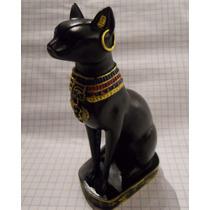 Figura Resina Bastet Egipto 14 Cm Diosa Egipcia Gato Estatua