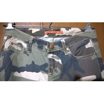 Pantalón Camuflado Importado Elastizado Cintura Frente 39cm.