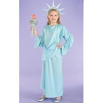 Disfraz Para Niña Poco Niñas Lil Miss Estatua De La Liberta