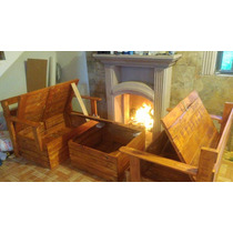 Sala Para Interior/exterior De 3 Piezas 100% Madera Reciclad