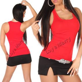Camiseta Regata Feminina Cavada Blusas Femininas S/ Renda