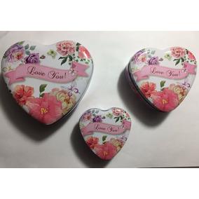 Cajas Metalicas De Corazon - Dia De Los Enamorados - Amor