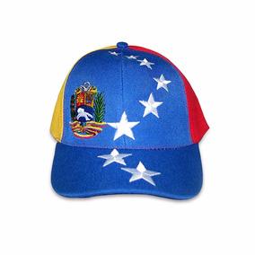 Gorra Nacional Bandera Tricolor Venezuela 8 Estrellas Escudo