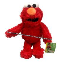 Boneco Pelúcia Elmo 35cm Vila Sésamo Vermelho Sesame Street