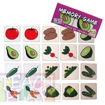 23265 Juego Memoria Verduras 20 Fichas Madera De Teach Play