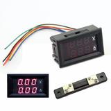 Voltimetro + Amperimetro Digital Cc 100v / 50a Con Shunt!