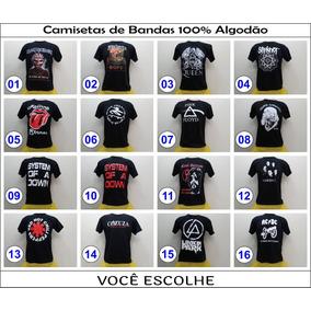 Kit Com 10 Camisetas - Bandas De Rock -metalica- Atacado