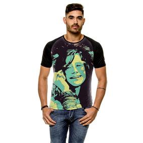 Camiseta Raglan Blues Janis Joplin Masculina