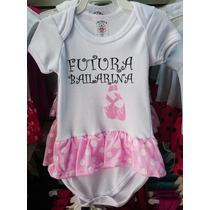 Body Bebê Infantil Futura Bailarina Com Saia - P / M / G