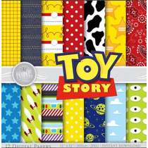 Kit Imprimible Pack Fondos Toy Story 2 Clipart 2x1