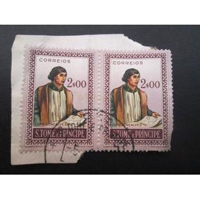 2 Selos Antigos S. Tomé E Principe Portuguesa 2 Escudos