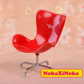 Design Color Cadeira Vermelha P/ Blythe Pullip Barbie Susi