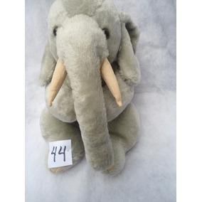 Elefante Cinza Detalhe Rosa 30 X 25 Cm