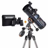 Telescopio Celestron Astromaster 114eq + Binocular G2 7x35