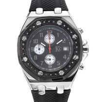 Reloj Techno Com, Crono, 24 Diamantes Acero Inoxidable 2 Sp0