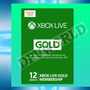 Xbox Live Gold 360 One 12 Meses Microsoft Tarjeta Fisica