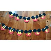 Banderines En Goma Eva - Minnie Y Mickey