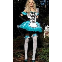 Fantasia Alice Nos País Das Maravilhas Luxo - Exclusiva