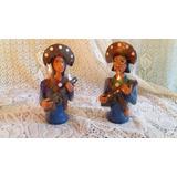 Lampião E Maria Bonita (bonecos De Barro) - Artesanato