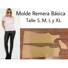 Molde Remera Básica Talle: S Al Xxl Moldería.