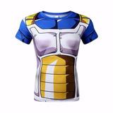 Camiseta Dbz Vegetta Academia Corrida Fitness Tamanho P