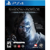 Middle Earth: Shadow Of Mordor Ps4 - Juego Físico - Prophone