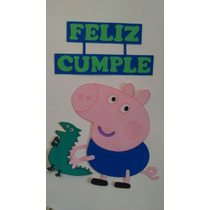 Cartel Feliz Cumple George Pig