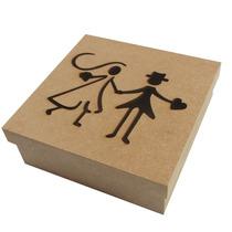 Caixa Convite Casamento Padrinhos Noivinho Mdf Kit C/12 Unid
