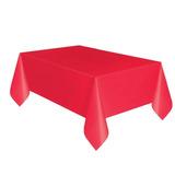 Mantel Plástico Rectangular Rojo 137cm X 274cm