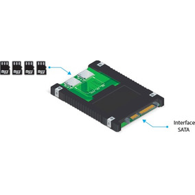 Conversor Micro 4x Sdhc P/sata 2.5 Raid 0 Comtac 9290