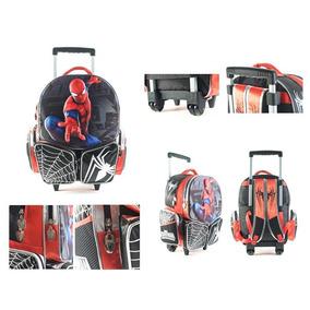 Mochila Con Carro Spiderman 18 Pulgadas Original