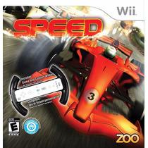 Wii Speed Zoo C\ Jogo + Volante Customizado