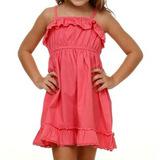 Vestido Infantil Com Babado Tam2 Ao 8! Lilas E Rosa!!! Novo