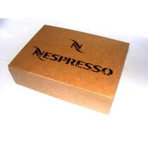 Caixa P/ Capsulas Nespresso 35 Lugares- Mdf Cru 29x 20x 8cm