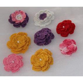 Flores Tejidas, Crochet, Apliques,