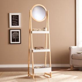 estante en forma de escalera con espejo minimalista lynhaven