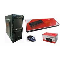 Kit Gabinete.fonte 200w, Teclado Usb, Mouse Optico, Cx Som