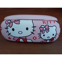 Estuche Porta Lentes De Hello Kitty De Excelente Calidad