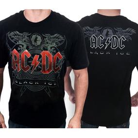 Camisa Acdc Black Ice Camiseta De Banda Ac Dc Camisas Rock