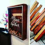 Portacorchos Decorativo De Pallet Reciclado, Hecho A Mano