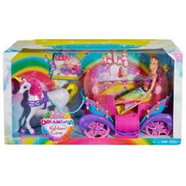 Barbie Carruagem Arcoiris Mattel Lancamento