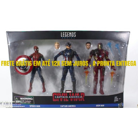 Marvel Legends Guerra Civil Kit Com 3 Action Figures